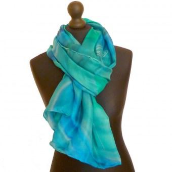 Grande écharpe Elea - Peinture sur soie 890423bbf96