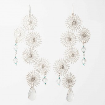 Boucles d'oreilles Comète - Collection Astres - Florence Beauloye