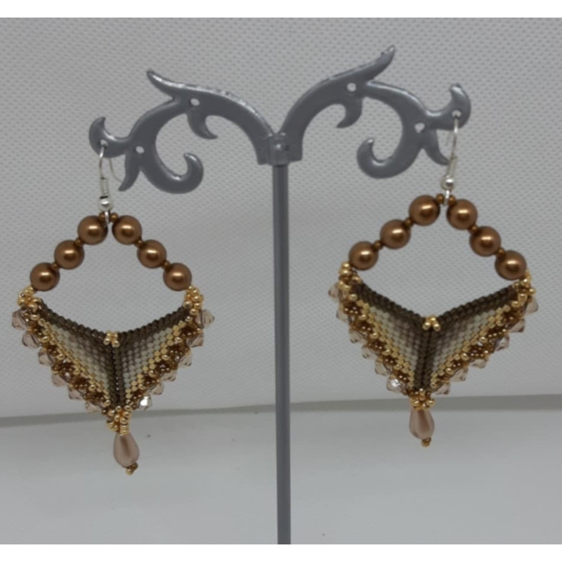 Boucles d'oreilles Triangles et gouttes - KC's artisanat made in Belgium