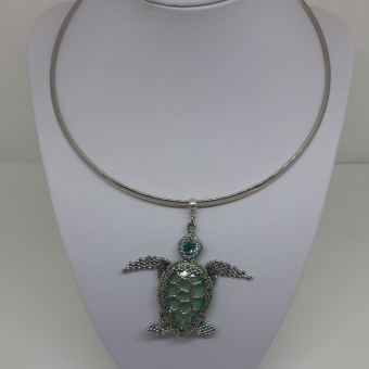 Pendentif tortue - KC's artisanat made in Belgium