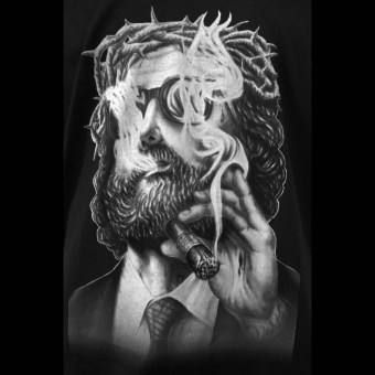 Jesus - Shirt NOIR Artist - 100% Made in Europe