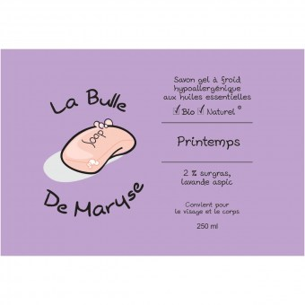 Savon gel - Printemps - La bulle de Maryse