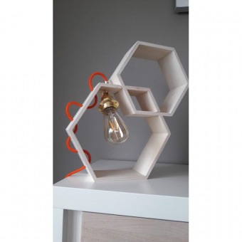 lampe table nid abeille