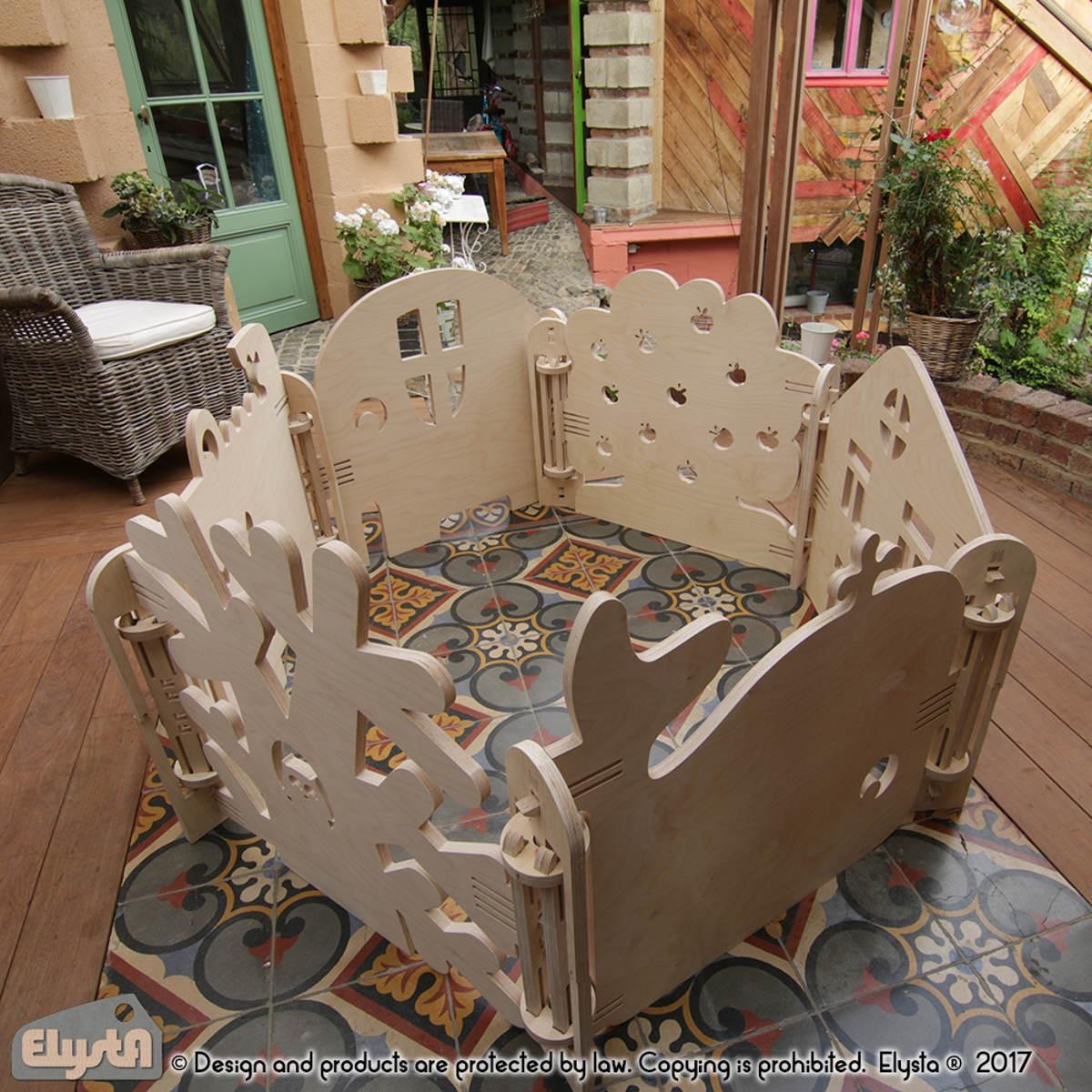Meuble design belge barri re en bois maison elysta for Meuble design belge