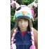 Bonnet cache oreilles enfant - Hibou pirate version fille