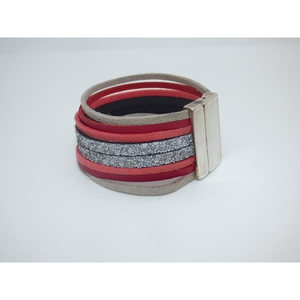 Bracelet red et grey