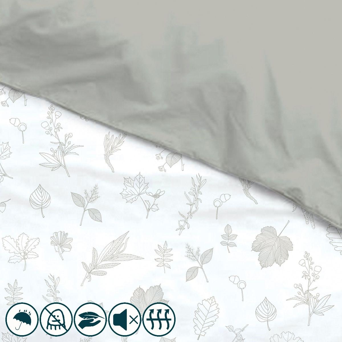 housse de couette enfant anti acariens imprim feuilles louis lesec. Black Bedroom Furniture Sets. Home Design Ideas
