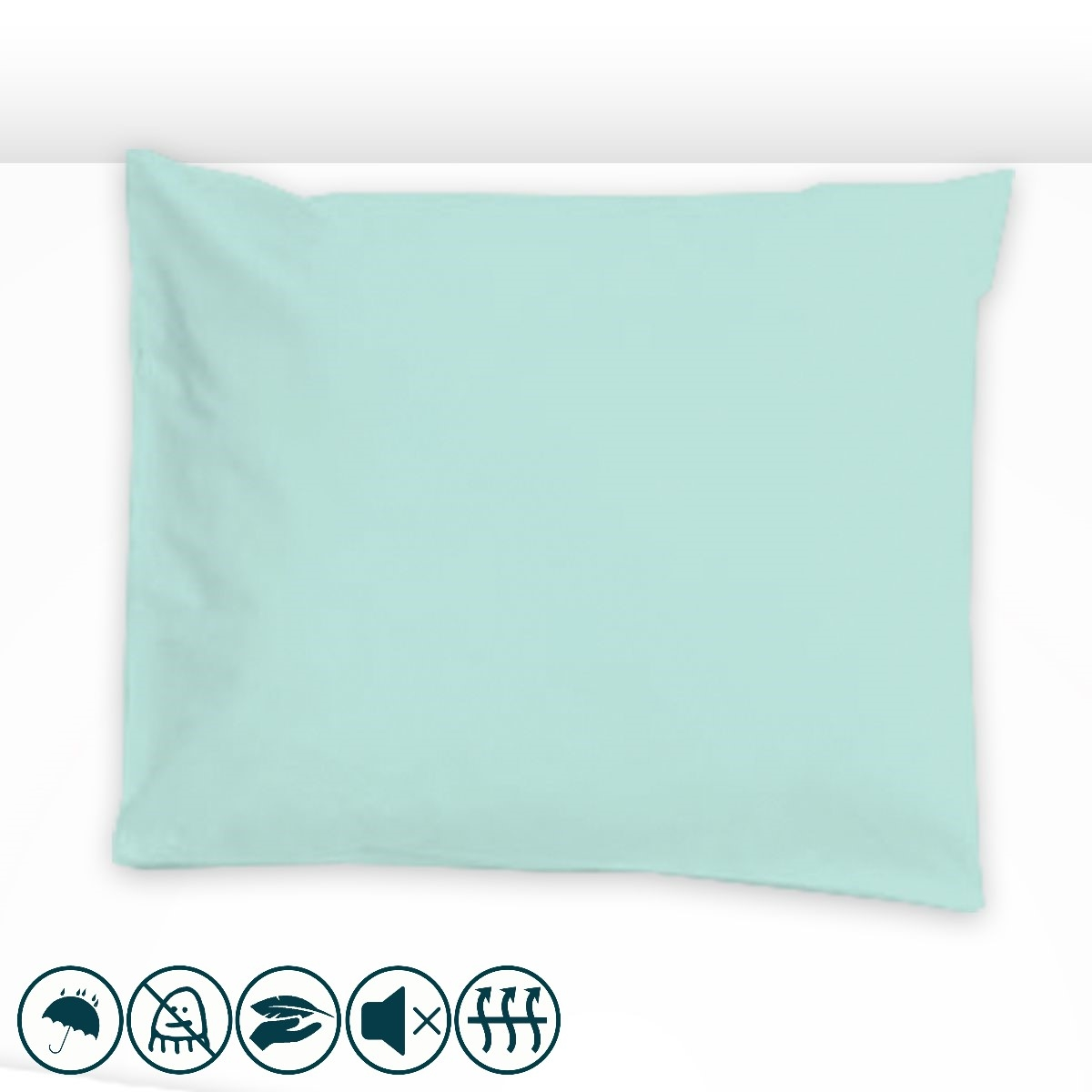 taie d 39 oreiller anti acariens unie bleu clair louis lesec. Black Bedroom Furniture Sets. Home Design Ideas
