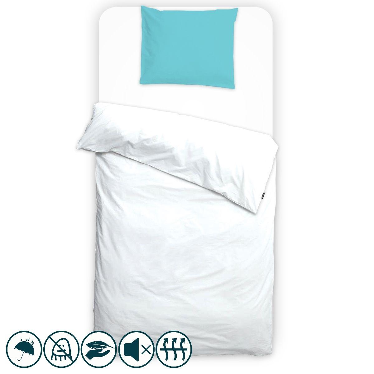 taie d 39 oreiller anti acariens unie bleu fonc louis lesec. Black Bedroom Furniture Sets. Home Design Ideas