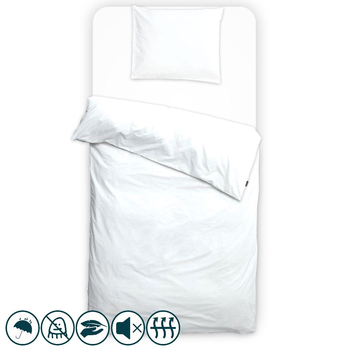 taie d 39 oreiller anti acariens unie blanche louis lesec. Black Bedroom Furniture Sets. Home Design Ideas