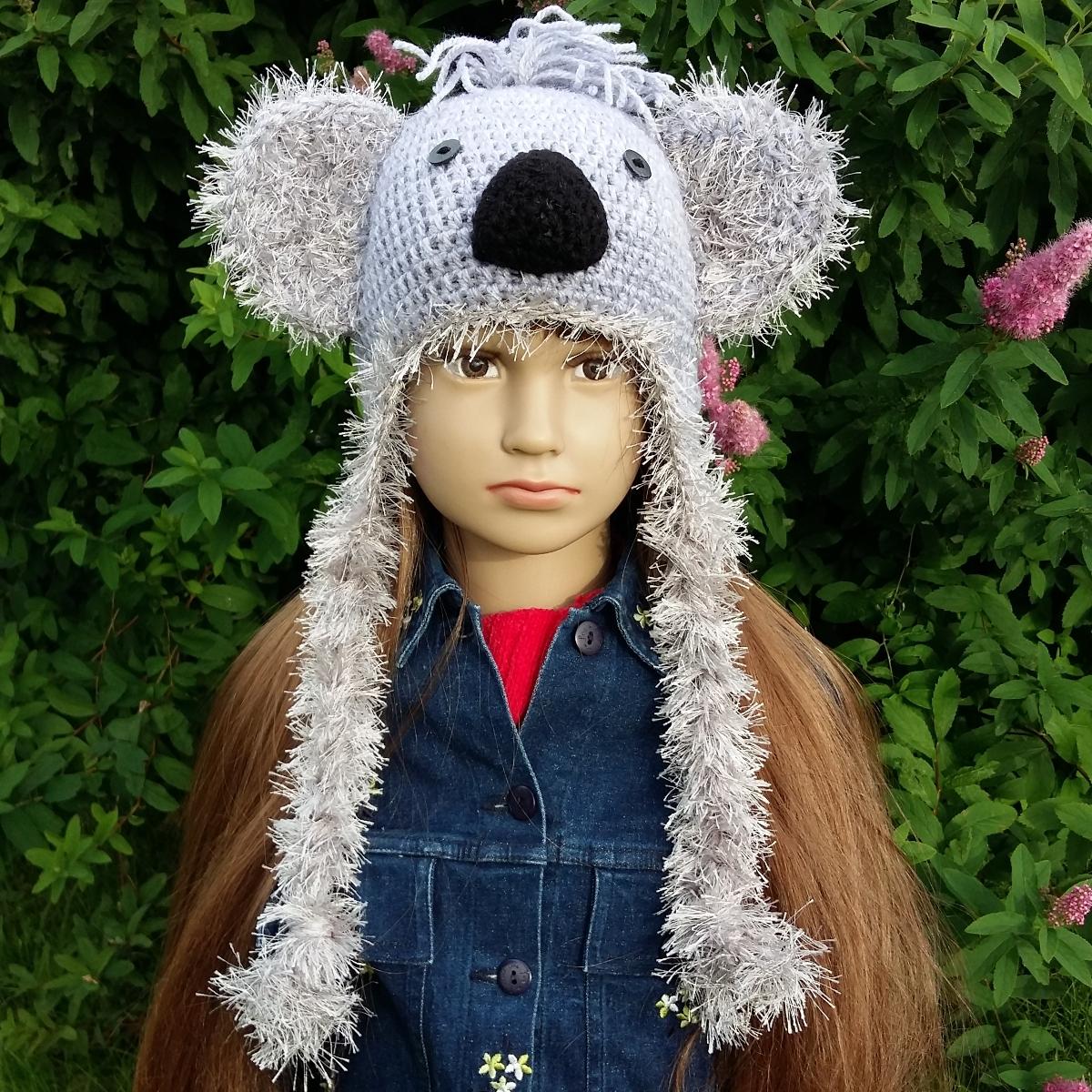 Bonnet cache,oreilles enfant , Koala